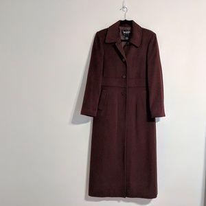 Regency Maroon Angora Wool Coat